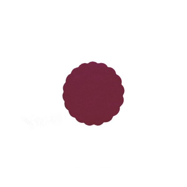 Rozetky PREMIUM ø 9 cm bordové [40 ks]
