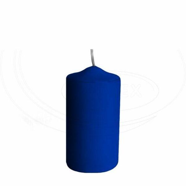 Svíčka válcová Ø 50 x 100 mm tmavě modrá [4 ks]