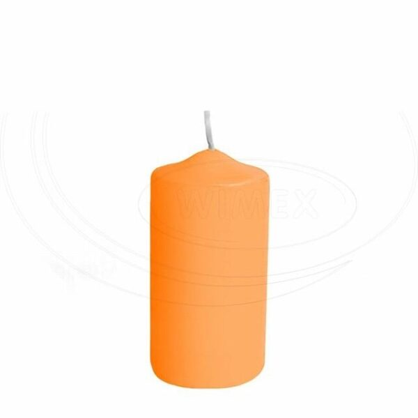 Svíčka válcová Ø 50 x 100 mm apricot [4 ks]