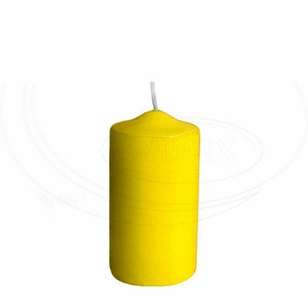 Svíčka válcová Ø 50 x 100 mm žlutá [4 ks]