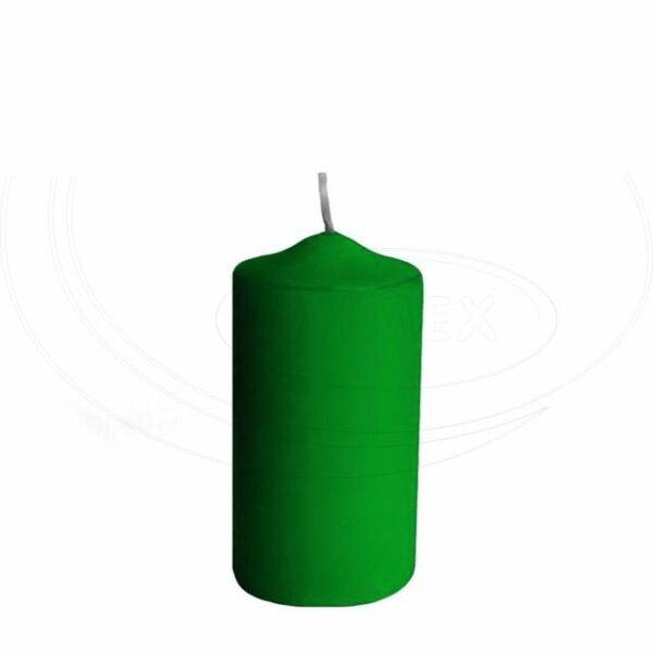 Svíčka válcová Ø 50 x 100 mm tmavě zelená [4 ks]